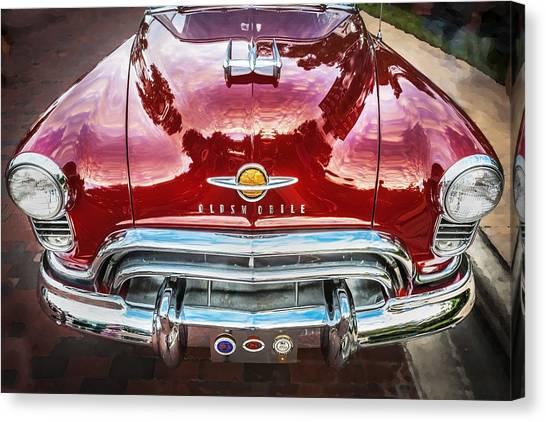 Custom Hotrod Canvas Print - 1950 Oldsmobile 88 Futurmatic Coupe  by Rich Franco
