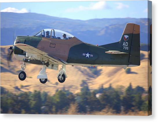 1951 T-28a Trojan Climbing Out N51705 Canvas Print