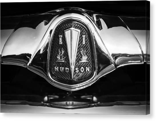 Hornet Canvas Print - 1953 Hudson Hornet Sedan Emblem by Jill Reger