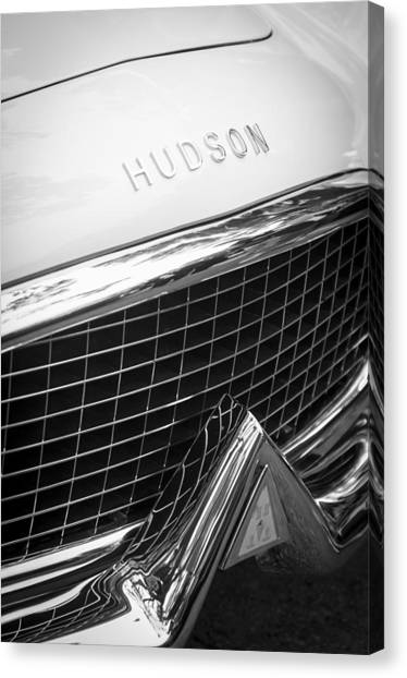 Touring Canvas Print - 1954 Hudson Italia Touring Coupe Grille Emblem by Jill Reger