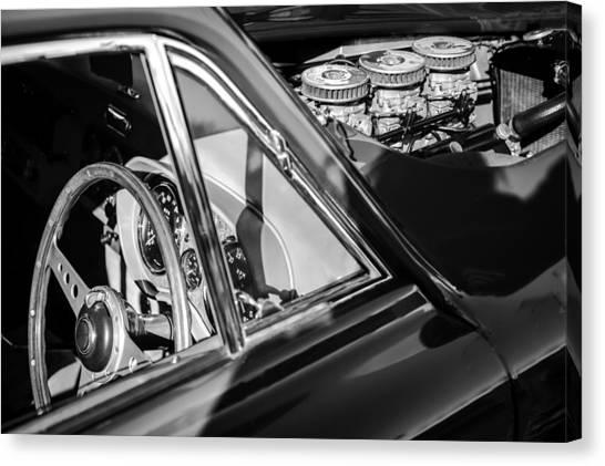 Bristol Canvas Print - 1960 Ac Aceca-bristol Steering Wheel - Engine by Jill Reger