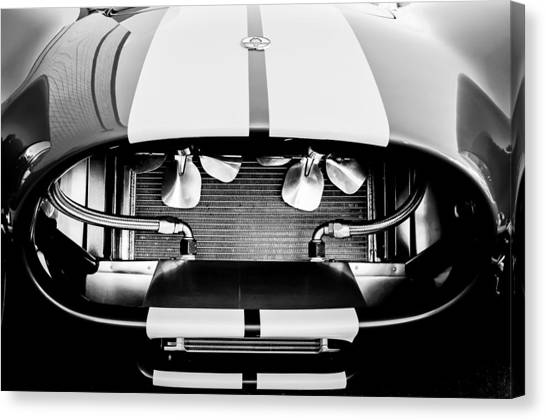 Cobra Canvas Print - 1965 Shelby Cobra Grille by Jill Reger