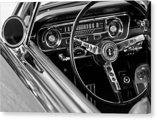 1965 Shelby Prototype Ford Mustang Steering Wheel Canvas Print