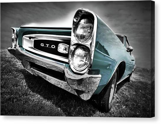 Barrel Racing Canvas Print - 1966 Pontiac Gto by Gordon Dean II
