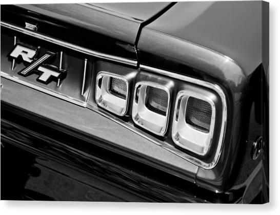 Dodge Canvas Print - 1968 Dodge Coronet Rt Hemi Convertible Taillight Emblem by Jill Reger