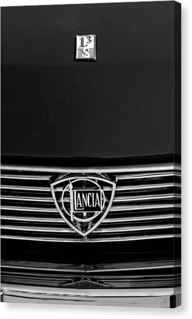 1972 Canvas Print - 1972 Lancia Fulvia 1.3s S2 Grille Emblem by Jill Reger