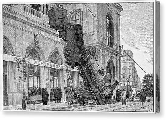19th Century Railway Accident Canvas Print by Cci Archives