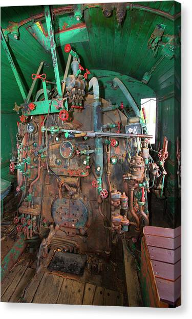Freight Trains Canvas Print - 19th Century Steam Freight Train by Jim West