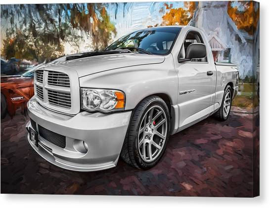 2004 Dodge Ram Srt 10 Viper Truck Painted Canvas Print