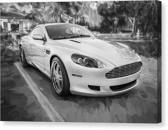 Smart Car Canvas Print   2007 Aston Martin Db9 Coupe Painted Bw By Rich  Franco
