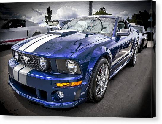 2008 Ford Shelby Mustang With The Roush Stage 2 Package Canvas Print