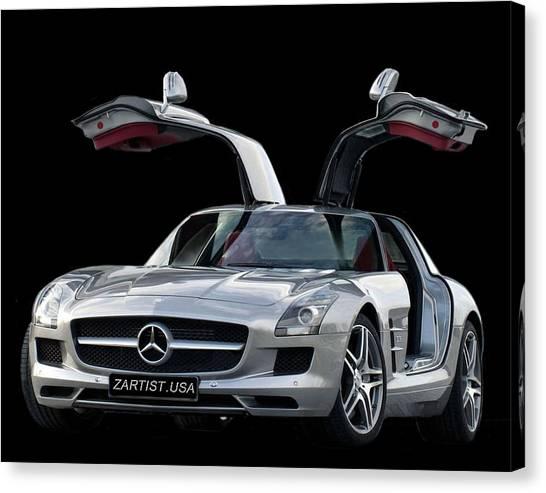 2010 Mercedes Benz Sls Gull-wing Canvas Print