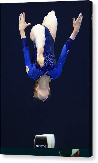Balance Beam Canvas Print - 2011 Artistic Gymnastics World Cup by Science Photo Library