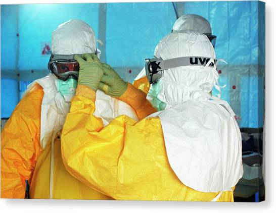 Outbreak Canvas Print - 2014 Ebola Virus Disease Outbreak by Cdc