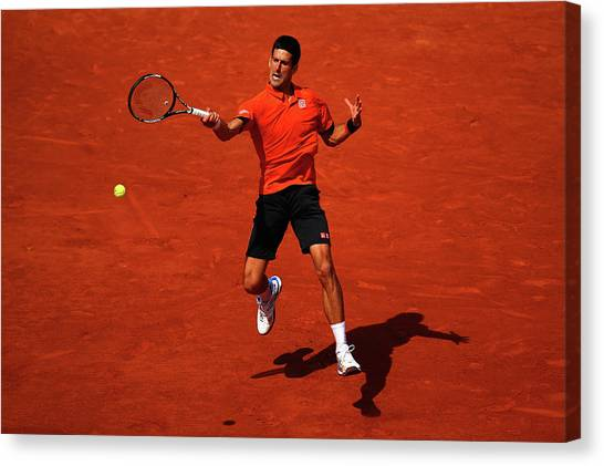 Tennis Pros Canvas Print - 2015 French Open - Day Fifteen by Dan Istitene