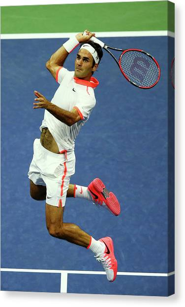 Tennis Pros Canvas Print - 2015 U.s. Open - Day 4 by Clive Brunskill
