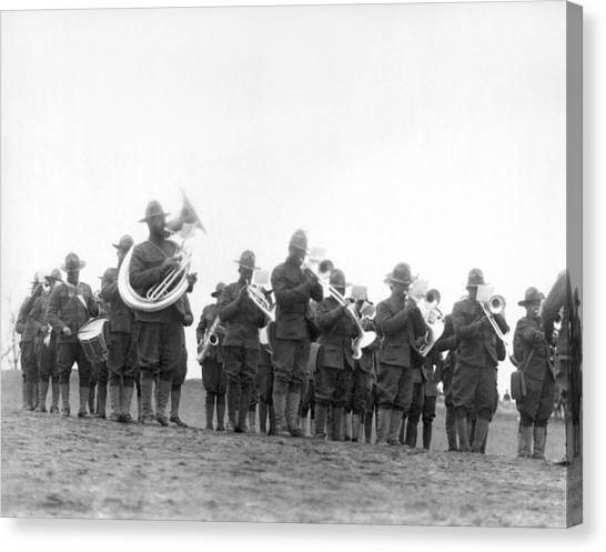 National Guard Canvas Print - 369th Infantry Regiment Band by Underwood Archives