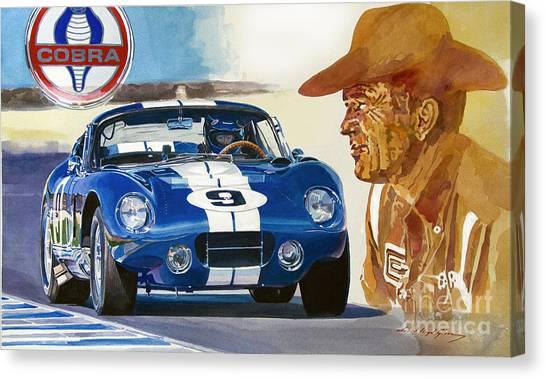 Cobras Canvas Print - 64 Cobra Daytona Coupe by David Lloyd Glover