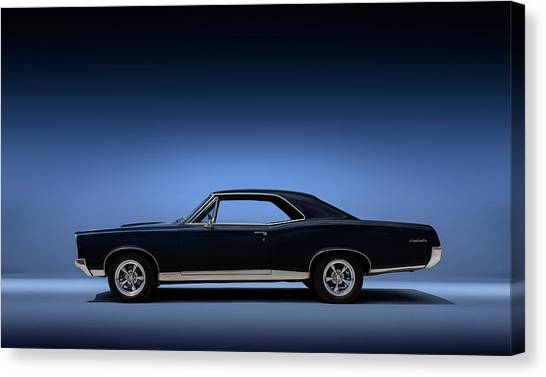 Sports Cars Canvas Print - 67 Gto by Douglas Pittman