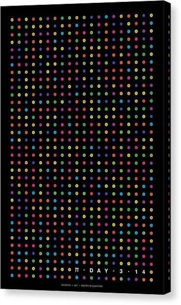 Pi Canvas Print - 700 Digits Of Pi by Martin Krzywinski