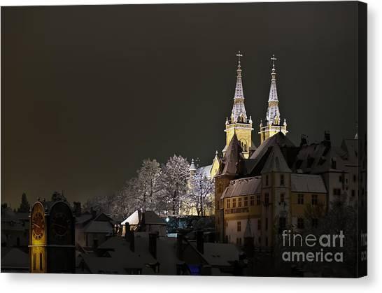 A Cold Winter's Night Canvas Print