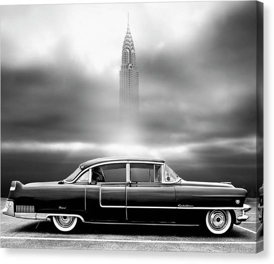 Classic Car Canvas Print - A Crack In The World by Larry Butterworth
