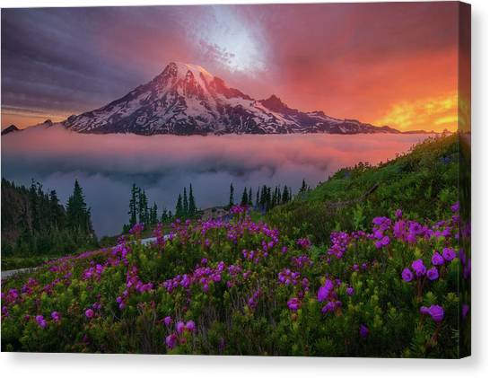 Alps Canvas Print - A Moment In Time by Chris Moore