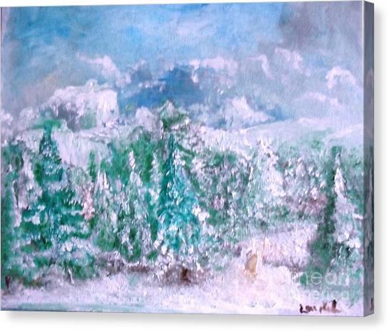 A Natural Christmas Canvas Print