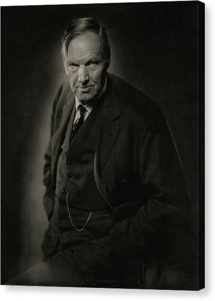 A Portrait Of Clarence Darrow Canvas Print by Nickolas Muray