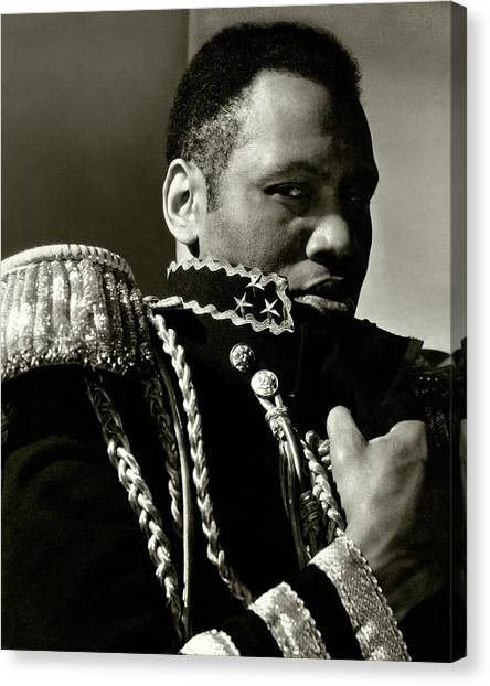 Shoulders Canvas Print - A Portrait Of Paul Robeson by Edward Steichen