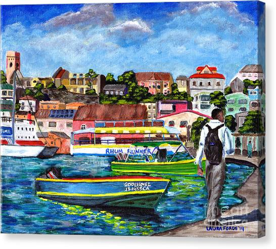 A Stroll On The Carenage Canvas Print