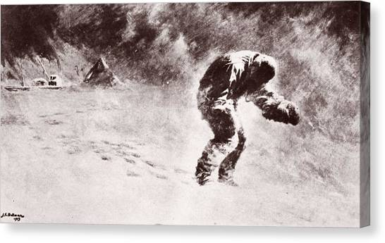Harsh Conditions Canvas Print - A Very Gallant Gentleman by John Charles Dollman