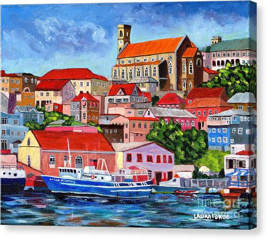 A View Of The Carenage Canvas Print