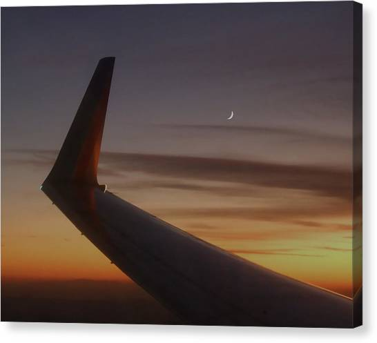A Wing And A Moon   Canvas Print