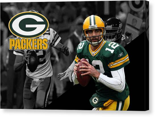 Aaron Rodgers Canvas Print - Aaron Rodgers Packers by Joe Hamilton