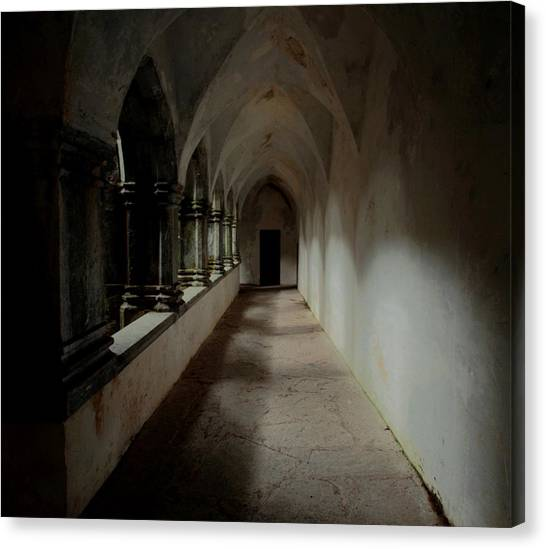 Abbey Heart Canvas Print by Peter Skelton