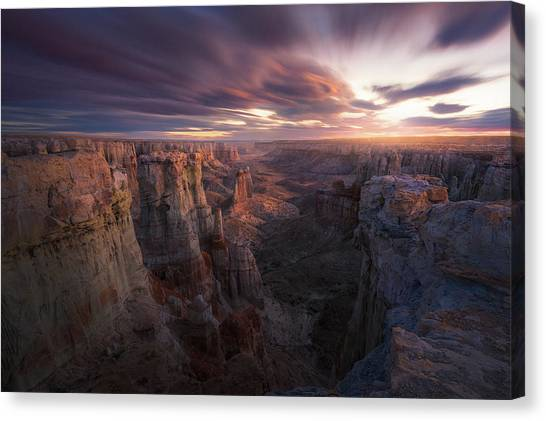 Formation Canvas Print - Above And Beyond by Chris Moore