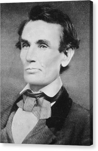 Presidential Portrait Canvas Print - Abraham Lincoln by Unknown