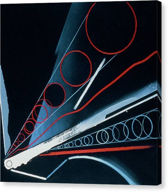 Wrenches Canvas Print - Abstract Art Of Atoms Being Wrenched Apart by Andrzej Dudzinski/science Photo Library