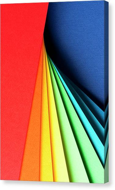 Abstract Background With Color Papers Canvas Print by Colormos