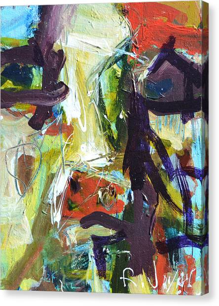 Abstract Cow Canvas Print