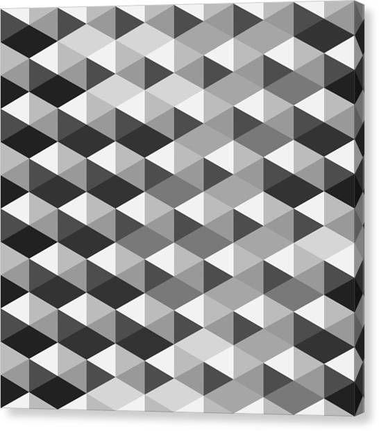Abstract Monochrome Geometric Pattern Digital Art By Atthamee Ni Awesome Geometric Pattern