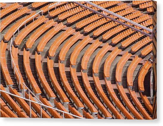 Abstract Pattern - Rows Of The Stadium's Seats Canvas Print