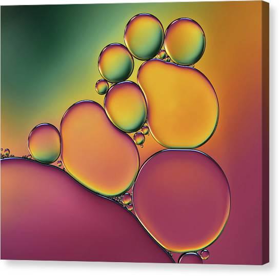 Colourful Canvas Print - Acrobats by Heidi Westum