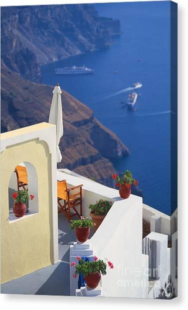 Aegean View Canvas Print
