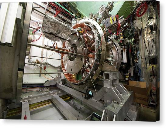 Aegis Experiment At Cern Canvas Print by Cern/science Photo Library