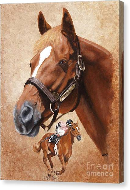 Affirmed Canvas Print by Pat DeLong