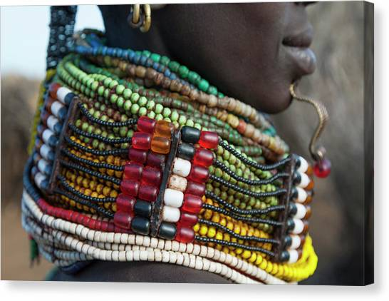 Chin Canvas Print - Africa, Ethiopia, Southern Omo Valley by Ellen Goff