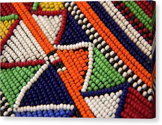 Beadwork Canvas Print - Africa, Kenya Maasai Tribal Beads by Kymri Wilt
