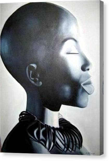 African Elegance - Original Artwork Canvas Print